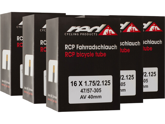 """Red Cycling Products Inner tube 16"""" 47-305 6er Set"""